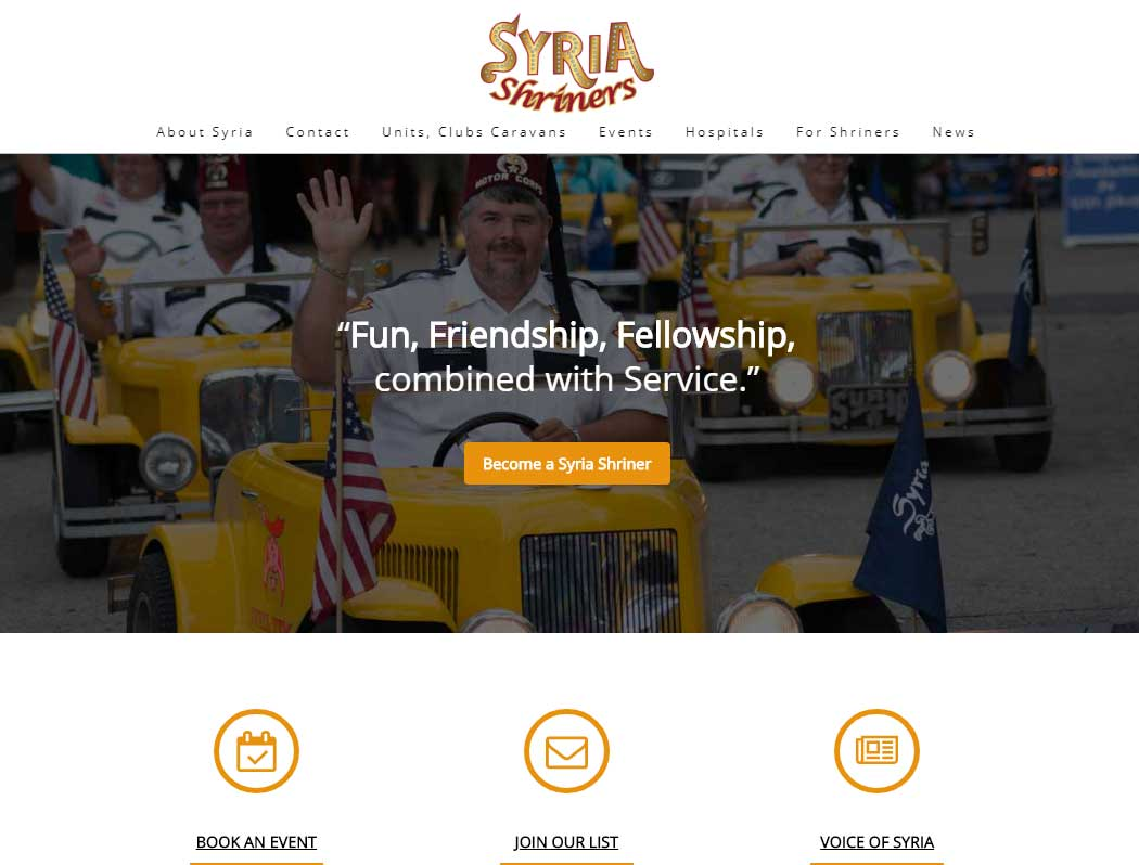 syria shriners new website