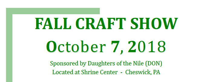 daughters of the nile craft show