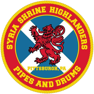 The Syria Highlanders Pipe and Drum Band logo