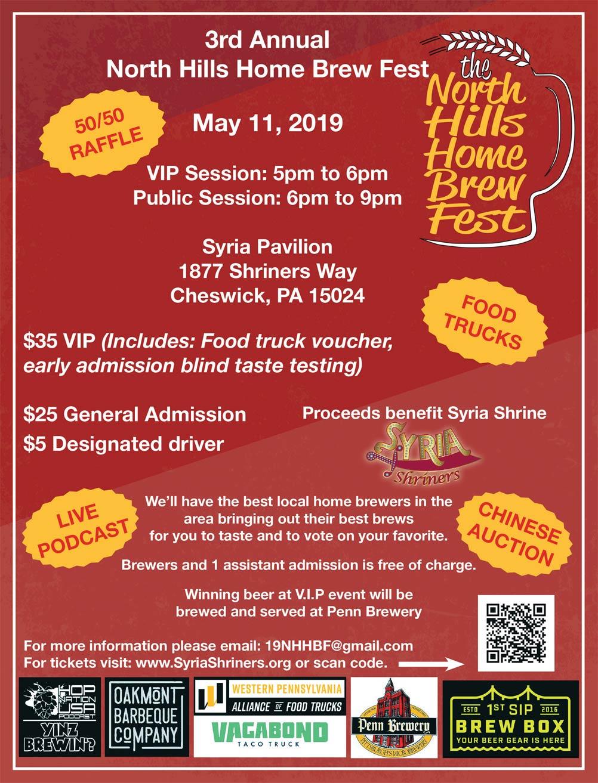 2019 north hills brewfest flyer