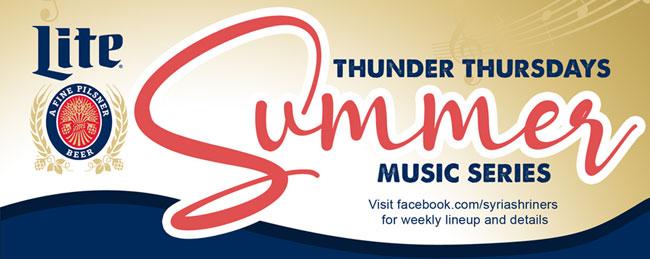 Miller Lite Thunder Thursdays Summer Music Series 2021